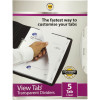 DIVIDERS VIEW TAB A4 5 TAB PP CLEAR DIVIDERS VIEW TAB A4 5 TAB PP SET 1