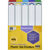 MARBIG COLOURED DIVIDERS A3 1-5Tab Board L/Scape Asst PK10