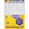 MARBIG COLOURED DIVIDERS A3 1-10Tab Board L/Scape Asst PK10