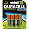 DURACELL RECHARGABLE BATTERY AA Precharged Card 4 PK4