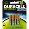 DURACELL RECHARGABLE BATTERY AAA Precharged Card4 PK4