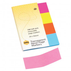 NOTES MARBIG PG MARKER NEON CLEAR 20X50 MARBIG PK160
