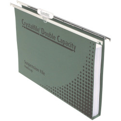 TWINLOCK CRYSTALFILE DOUBLE CAPACITY FILES F/CAP Files only BOX50