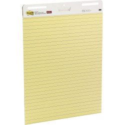 561 Post-it   Self-Stick Easel Pads 635mm x 775mm Yellow Lined